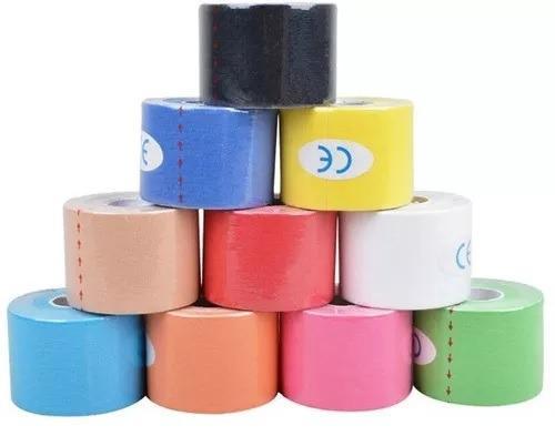 Imagem de Fita Kinesio Tape Bandagem 5m Por 5 Cm Varias Cores