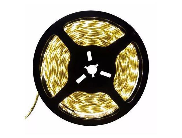 Imagem de Fita LED 12v 3000k 3528 24w Branco Quente 300 Leds IP65 5 Metros
