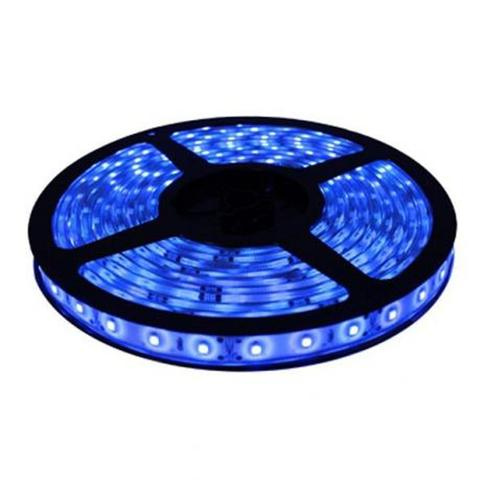 Imagem de Fita Led 5050 Rolo 5m 300 Leds Dupla Face 3m à prova d'água - Azul