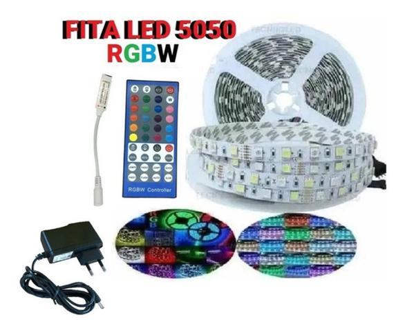 Imagem de Fita Led Rgbw 5050 300 Leds Ip65 C/ Controle 5mt C/ Fonte