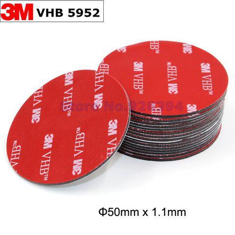 Imagem de Fita Ligação 3M Vhb Dupla Face 50x1,1mm - Preto