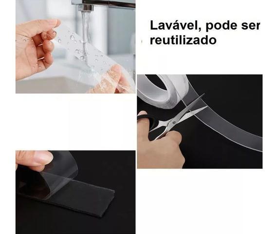 Imagem de Fita Magica Super Forte Lavável Dupla Face Auto Colante 1 M