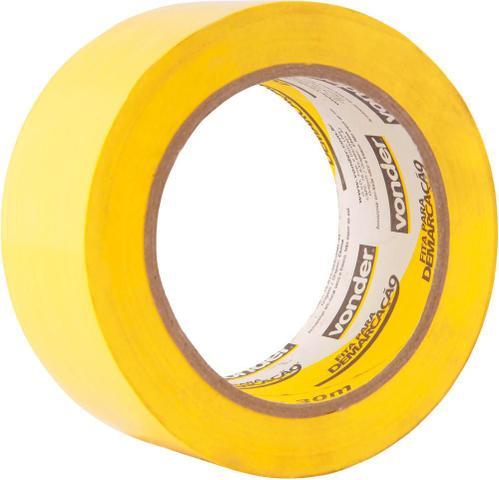 Imagem de Fita para demarcação de solo 48mmx30m amarela - Vonder