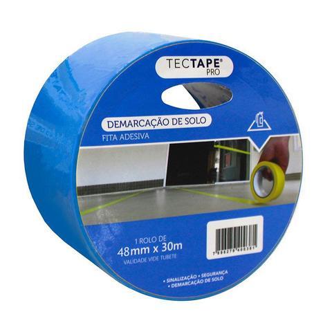 Imagem de Fita para demarcação de solo 48x30 - azul - Tectape