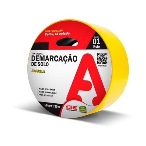 Imagem de Fita para Demarcação de Solo 852i/S Amarela 50mmX30m - Adere  81326005600