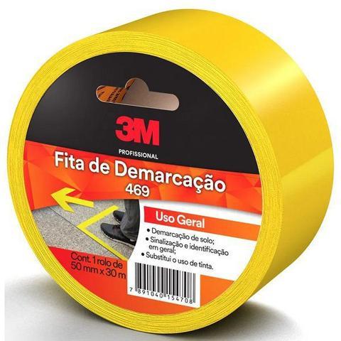 Imagem de Fita para Demarcaçao de Solo Amarela 50MM X 30M 469 3M