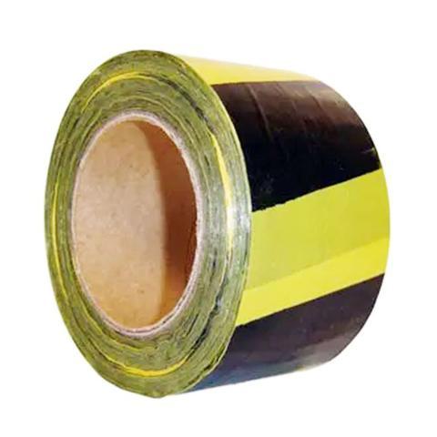 Imagem de Fita Zebrada Para Sinalização 200mts X 70 cm Preta/Amarela FTAM200/70 - Ecoconvert