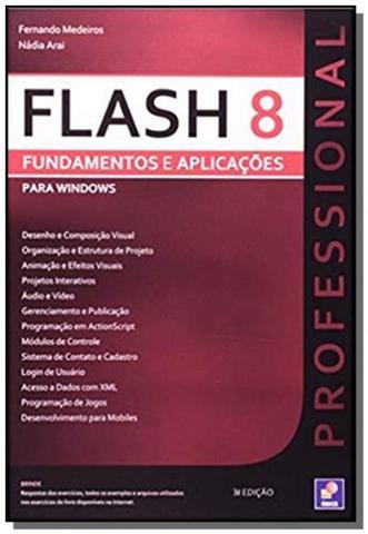 Imagem de Flash 8 professional - fundamentos e aplicacoes -