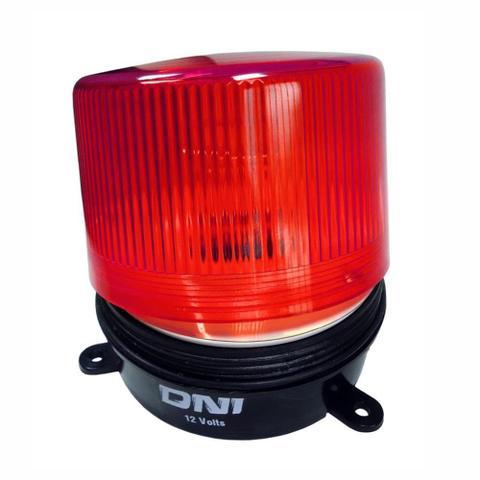 Imagem de Flash de Advertência Vermelho - 12V - DNI 4006