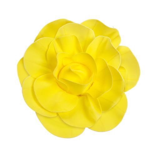 Imagem de Flor Decorativa P/Painel Amarelo 40Cm Dec. Festas