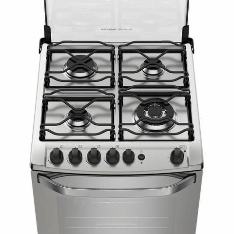 Imagem de Fogão 4 Bocas a Gás Electrolux 56GXQ Automático com Grill e Tripla Chama Prata Bivolt