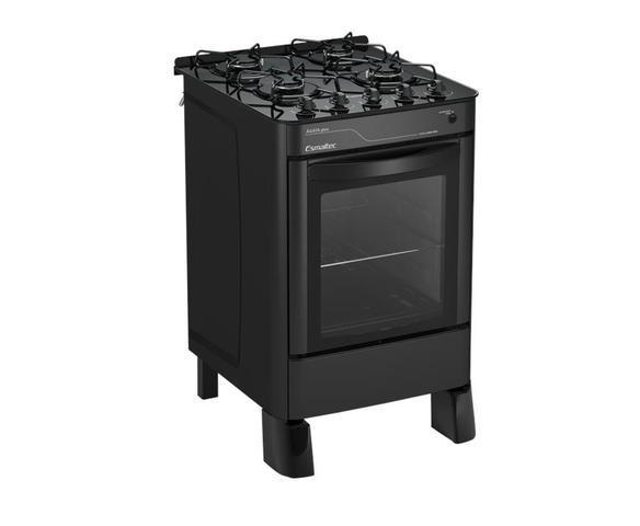 Imagem de Fogão 4 bocas ágata glass  acendimento automático mesa de vidro 4090 preto bivolt esmaltec