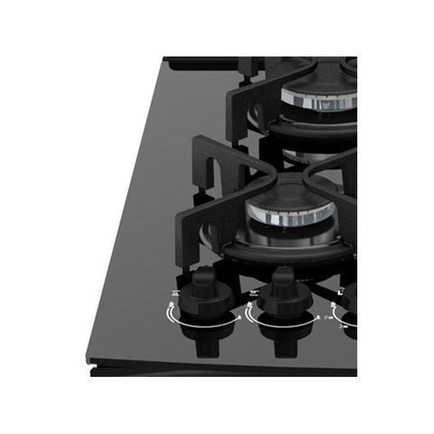 Imagem de Fogão 4 Bocas Atlas UTop Glass, Preto, Acendimento Automático