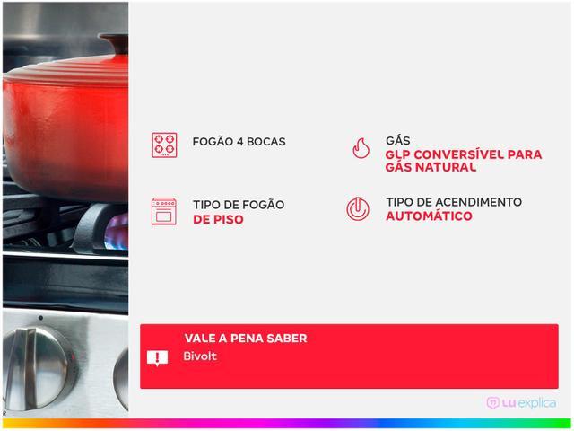 Imagem de Fogão 4 Bocas Consul Branco Acendimento Automático