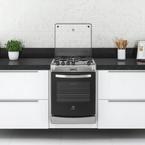 Imagem de Fogão 4 Bocas de Embutir Electrolux Prata Automático com Timer Digital (52EXR)