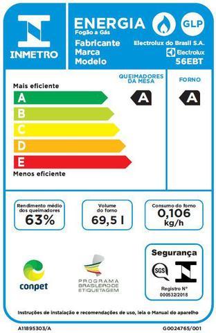 Imagem de Fogão 4 Bocas de Embutir Electrolux Preto Automático com Grill e Tripla Chama (56EBT)