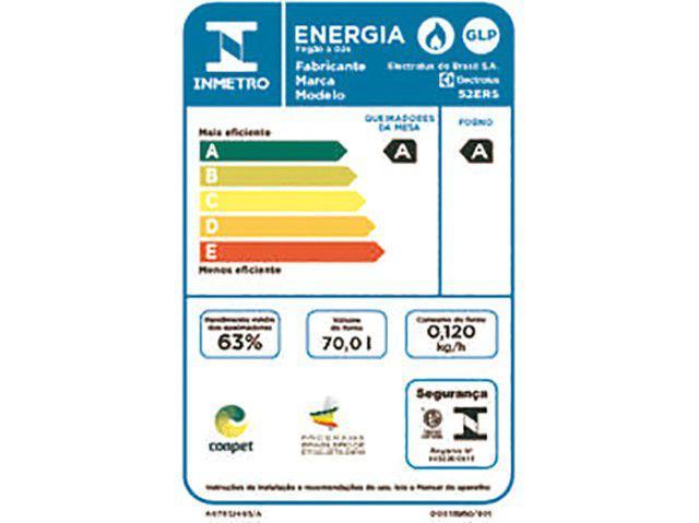 Imagem de Fogão 4 Bocas Electrolux 52ERS de Embutir Inox