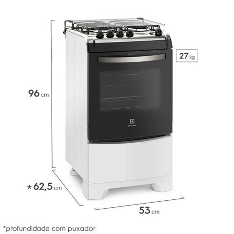 Imagem de Fogão 4 Bocas Electrolux Branco Automático com Forno de 70L e Vidro Interno Removível (52LBS)