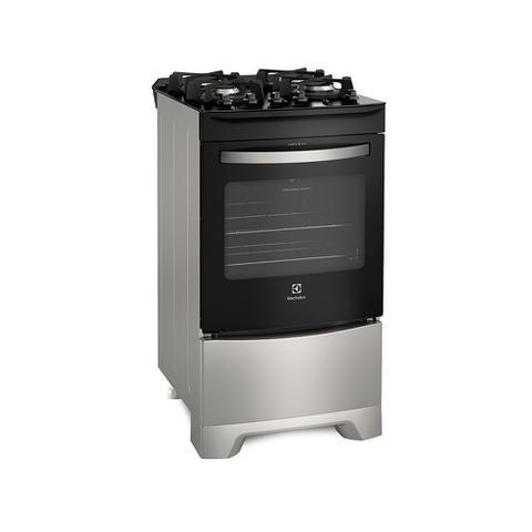 Imagem de Fogão 4 Bocas Electrolux Prata Automático com Mesa de Vidro e Porta Full Glass (52LSV)