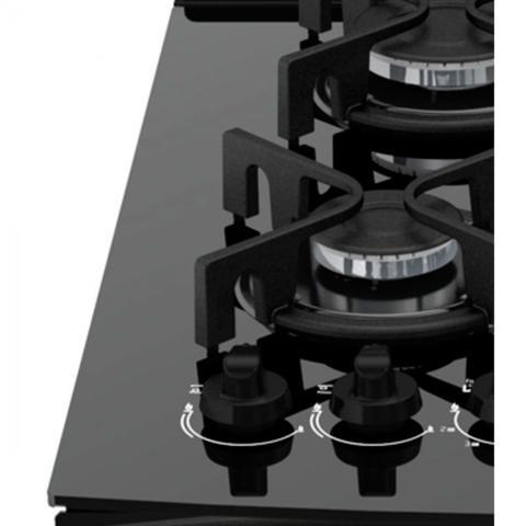 Imagem de Fogão 5 Bocas Atlas U.Top Glass com Acendimento Automático