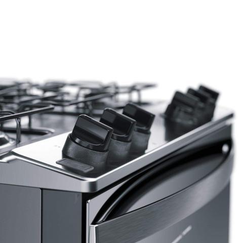 Imagem de Fogão 5 Bocas Automático com Botões Removíveis e Aro Protetor Brastemp Bivolt Inox