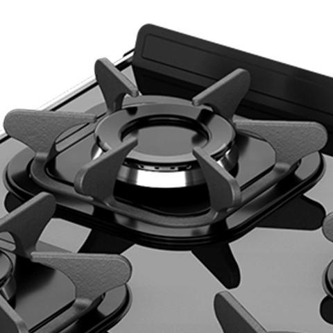 Imagem de Fogão 5 Bocas Automático Mesa de Vidro Piacere Vetro Mueller Bivolt Branco