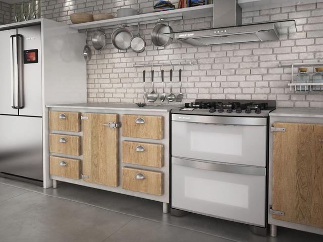 Imagem de Fogão 5 Bocas Brastemp Smart Cook Inox Forno Duplo