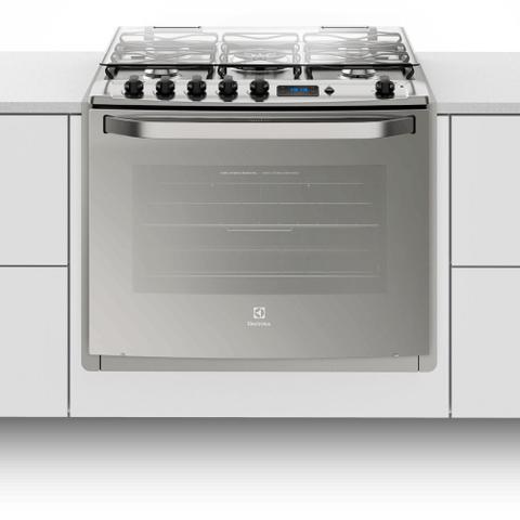 Imagem de Fogão 5 Bocas de Embutir Electrolux Prata Automático com Grill e Timer Digital (76EXR)