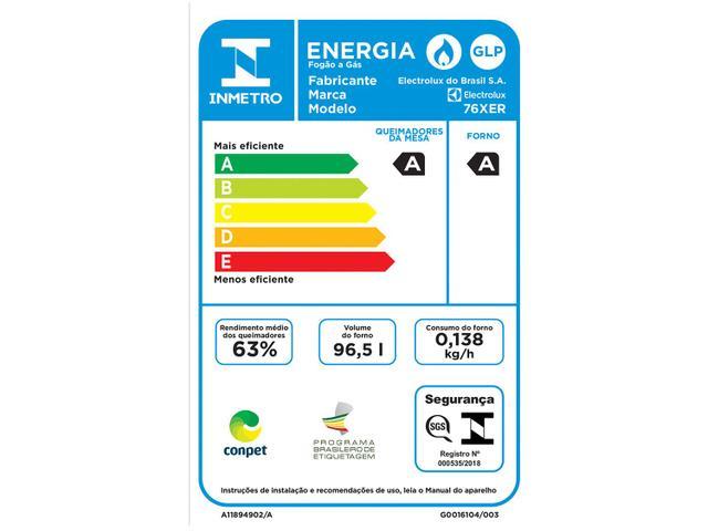 Imagem de Fogão 5 Bocas Electrolux 76XER de Embutir Grill
