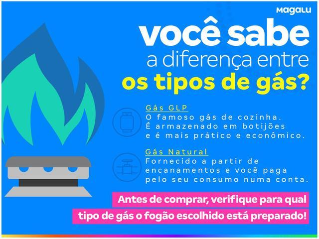 Imagem de Fogão 5 Bocas Electrolux Prata e Preto