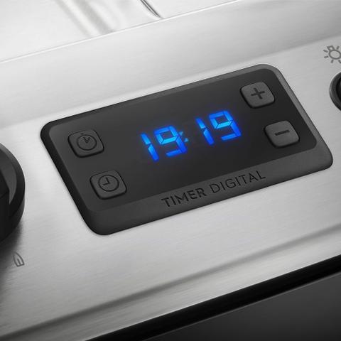 Imagem de Fogão 5 Bocas Electrolux Preto Automático com Tripla Chama e Timer Digital (76UBR)