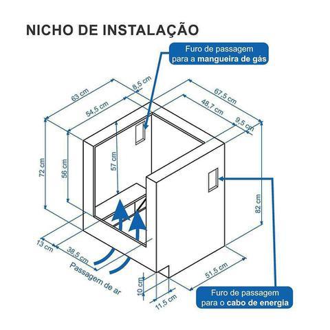 Imagem de Fogão À Gás De Embutir Gaudi Prisma Vitreo 4 Bocas Gás Glp Branco - Venax