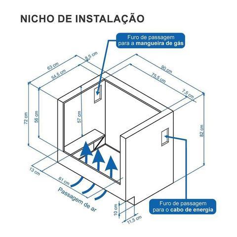 Imagem de Fogao a Gas de embutir Gaudi Prisma Vitreo 5Q Preto Gás Glp