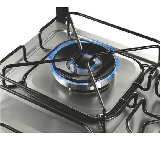 Imagem de Fogão Brastemp 4 bocas cor Inox com dupla chama e grill