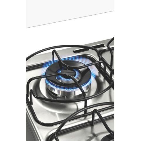 Imagem de Fogão Brastemp 4 bocas cor Inox com grill e timer digital
