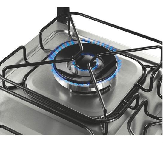 Imagem de Fogão Brastemp 4 bocas duplo forno cor Inox com dupla chama e timer digital