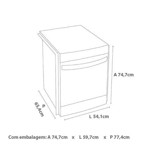 Imagem de Fogão Brastemp 4 bocas embutir Branco com timer digital