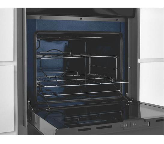 Imagem de Fogão Brastemp 4 bocas embutir cor Inox com dupla chama, trempes de ferro fundido e grill