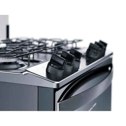 Imagem de Fogão Brastemp 5 Bocas Cor Inox Com Turbo Chama E Touch Timer Com Autodesligamento - BFS5GCR