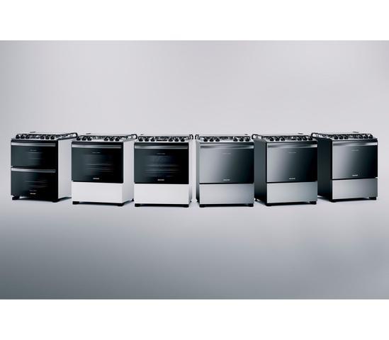 Imagem de Fogão Brastemp 5 Bocas De Embutir Cor Inox Com Turbo Chama E Touch Timer - BYS5PCR