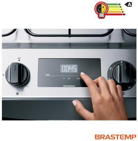 Imagem de Fogão Brastemp 5 Bocas de Embutir Inox com Turbo Chama e Touch Timer
