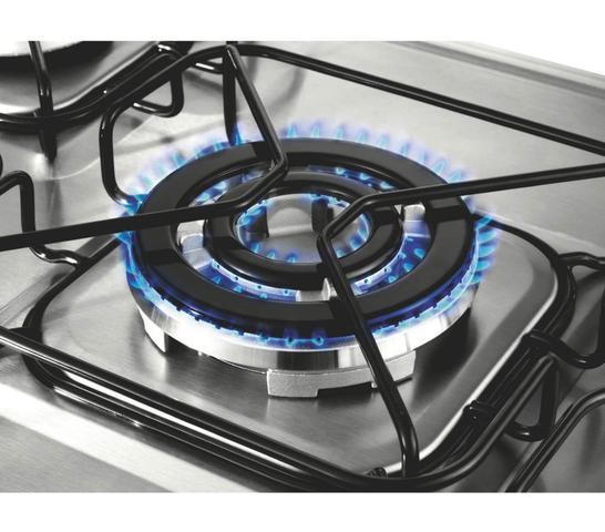 Imagem de Fogão Brastemp 5 bocas duplo forno cor Inox com quadrichama e timer digital