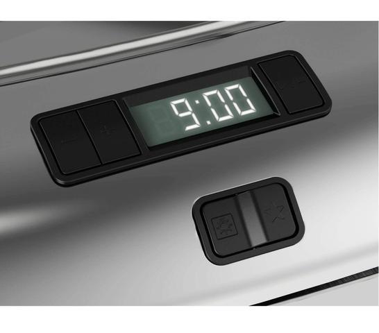 Imagem de Fogão Brastemp 5 bocas embutir cor Inox com timer digital e mesa flat top
