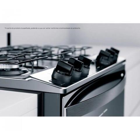 Imagem de Fogão Brastemp de Embutir Inox 5 Queimadores Turbo Chama e Touch Timer Bivolt BYS5PCRUNA