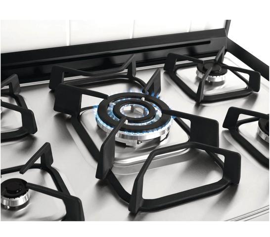 Imagem de Fogão Brastemp Gourmand 5 bocas cor Inox com quadrichama e função vapor
