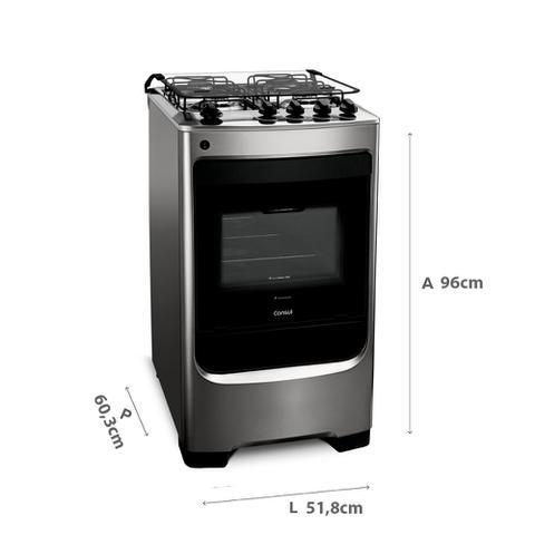 Imagem de Fogão Consul 4 bocas cor Inox com acendimento automático