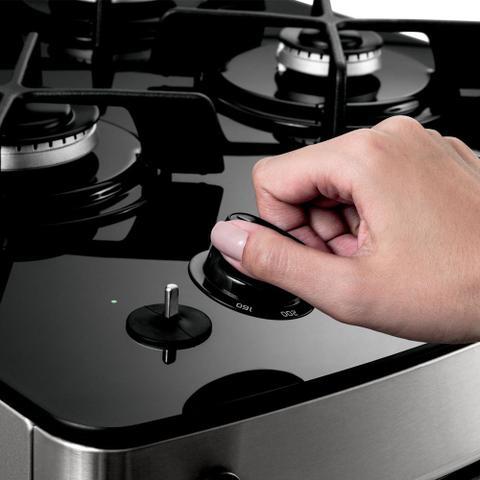 Imagem de Fogão Consul 4 bocas titanium com mesa de vidro e timer touch