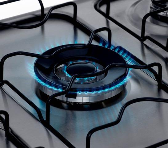 Imagem de Fogão Consul 5 bocas cor Inox com Dupla chama e timer digital