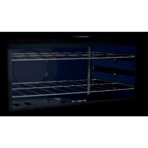 Imagem de Fogão Consul 6 bocas cor Inox com botões removíveis e vidro interno vedado