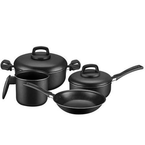 Imagem de Fogão cooktop Gourmet ,panelas 4 pçs Panex Day By Day e Panela de pressão 4,5L Clock